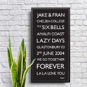 Wallspice Destination Blind Small Print :: People and Places Personalised to Remember Forever